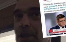 Poseł Kukiz'15 analizuje śmiertelny wypadek Rafała Wójcikowskiego. Mężczyzna, który był na miejscu tragedii brał udział w bójce w Sejmie.