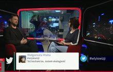 Nowy hit internetu? W TVP Info trwa program... a mężczyzna myje szybę. Prowadząca pęka ze śmiechu [WIDEO]