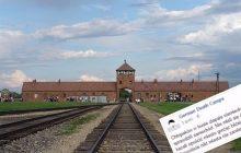 Baner przypominający o niemieckich obozach śmierci dojechał pod siedzibę ZDF. Interweniowała policja!