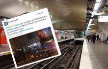 Eksplozja w paryskim metrze. Policja: To nie był zamach terrorystyczny [FOTO]