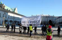 Miesięcznica katastrofy smoleńskiej - manifestacja Obywateli RP [FOTORELACJA]