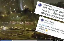 Polska Policja drwi z francuskich funkcjonariuszy. Wszystko przez uciekające radiowozy