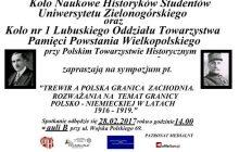 Trewir a polska granica zachodnia. Rozważania na temat granicy polsko-niemieckiej w latach 1916-1919 [PATRONAT]