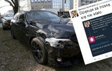 Po wypadku, wiceminister publikuje hejt internautów.