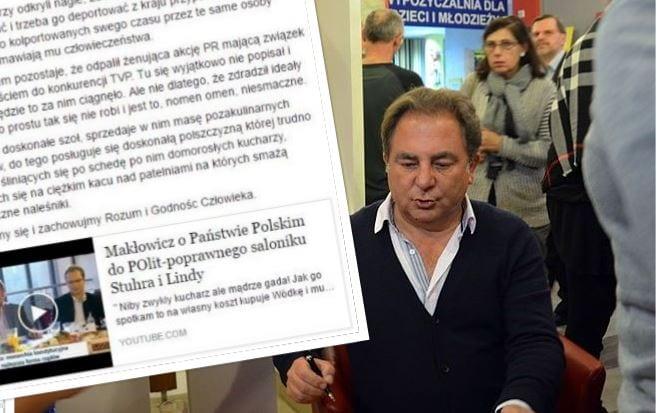 Zastanawiający wpis dziennikarza ws. sporu Makłowicz-TVP.