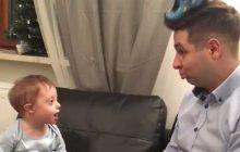 Wiceminister z synkiem podbili serca internautów. Wyjątkowe nagranie z okazji Światowego Dnia Zespołu Downa [WIDEO]