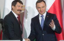 Prezydent Węgier z wizytą w Polsce.