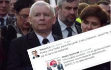 Lis publikuje sondaż poparcia dla Tuska i strofuje Kaczyńskiego.