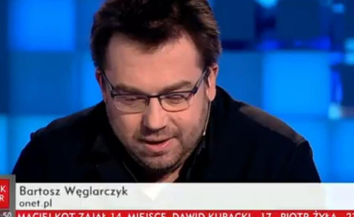 Burza po wypowiedzi Bartosza Węglarczyka na antenie TVP Info. Dziennikarz miał manipulować jednym z cytatów