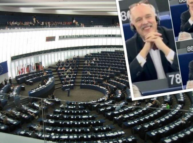Jak zareagował Janusz Korwin-Mikke na wieść o ukaraniu go przez PE? Hiszpański internauta publikuje fotografie!