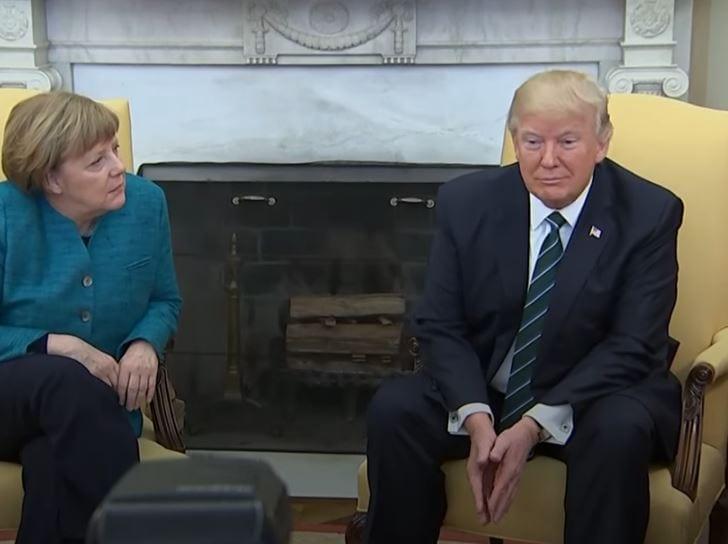 Cały świat komentuje zachowanie Donalda Trumpa. Prezydent USA nie podał ręki kanclerz Niemiec! [WIDEO]