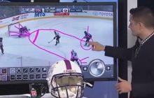 Zabawna sytuacja podczas analizy meczu hokejowego. Ekspert narysował... męskie przyrodzenie [WIDEO]