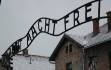 Skandaliczny incydent w Auschwitz! Zabili owcę, rozebrali się i odpalili race. Interweniowała policja