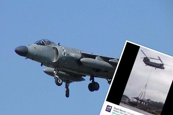 Brytyjski myśliwiec Sea Harrier trafił do muzeum. Ostatni lot odbył na linie!