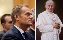 Polski publicysta porównuje Tuska do Jana Pawła II.