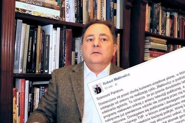 Robert Makłowicz wyrzucony z TVP!