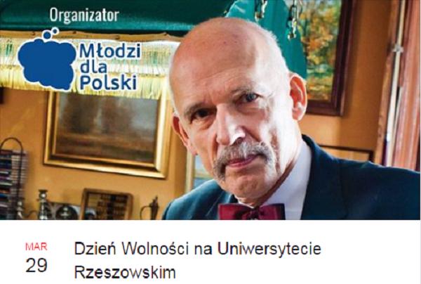 Dzień Wolności na Uniwersytecie Rzeszowskim. Wśród gości Janusz Korwin-Mikke