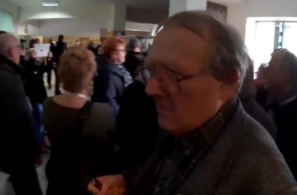 Nowe nagranie z awantury na spotkaniu z Michnikiem w Płocku.