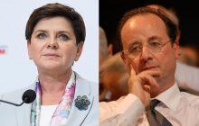 Szydło krótko i zdecydowanie gasi próbę szantażu Hollande'a.