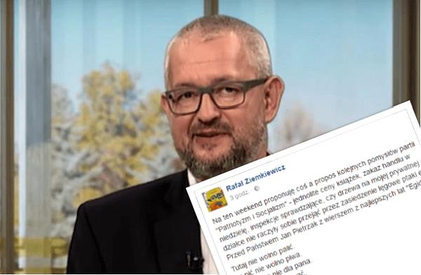 Rafał Ziemkiewicz gorzko o polityce PiS. Publicysta opublikował wymowny wiersz