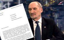 Kukiz ujawnia list, który dostał od Antoniego Macierewicza ws. Misiewicza.
