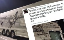 Te malowidła na tirze zachwyciły brytyjską policję. Niezwykły hołd dla Dywizjonu 303 [FOTO]
