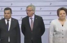 Twitterowy bloger przypomina dziwne zachowania Jean-Claude'a Junckera. Tak wita się szef Komisji Europejskiej [WIDEO]