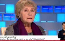 Serialowa żona wspomina Witolda Pyrkosza. Łzy na antenie TVP Info [WIDEO]