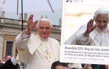 Krystyna Janda znów rozpowszechnia nieprawdziwą informację! Tym razem o Benedykcie XVI. Nabrała się, czy po prostu żartowała?