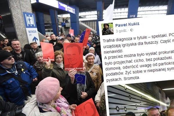 Kukiz ostro o przyjeździe Tuska.