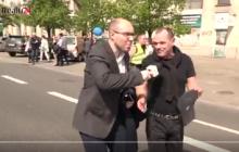 Andrzej Hadacz na Marszu Wolności. Nagła zmiana poglądów? Prowokator spod krzyża atakuje PO [WIDEO]