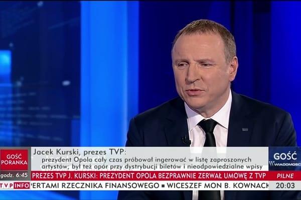 TVP zdecydowała o zwolnieniu pracownika. To reakcja na wyświetlenie wulgarnego wpisu na temat prezydent Warszawy [FOTO]