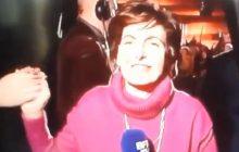 To nagranie wywołało we Francji burzę! Dziennikarka jawnie poparła Macrona przed wejściem na antenę [WIDEO]