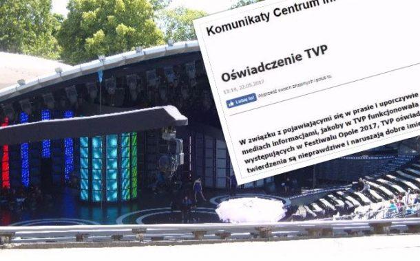 TVP wysyła pozwy do wydawców medialnych! Otrzymały je m.in. Agora i Newsweek. Wszystko przez festiwal w Opolu