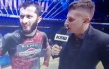 Mamed Khalidov wygwizdany podczas gali KSW! Zdziwiona mina zawodnika [WIDEO]