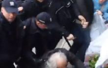 Policja spacyfikowała mężczyznę, który usiłował zatrzymać marsz ONR. Protesty pozarządowej organizacji [WIDEO]