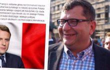 Zbigniew Stonoga wystosował apel do francuskiej Polonii. Zachęca, by głosowali na Macrona, ponieważ... krytykuje Kaczyńskiego