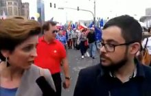 Absurdalne nagranie z Marszu Wolności. Posłanka PO wymienia wszystkie zasady demokracji, po czym stwierdza, że to... bolszewizm [WIDEO]