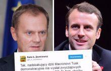 Donald Tusk pogratulował Emmanuelowi Macronowi. Zripostował go Rafał Ziemkiewicz. Publicysta przypomniał jego nietaktowane zachowanie po zwycięstwie Andrzeja Dudy