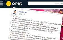 Wiceminister sprawiedliwości ostro o portalu Onet.pl.