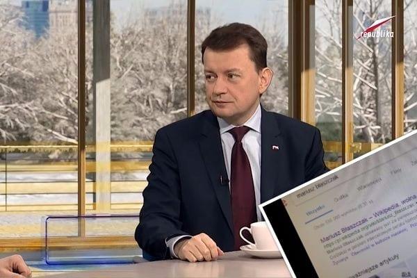 Polska Wikipedia trolluje Mariusza Błaszczaka? Uznawany za... pierwowzór postaci z