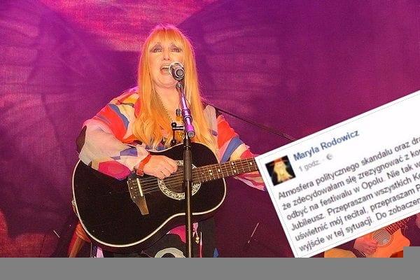 Maryla Rodowicz jednak rezygnuje z koncertu 50-lecia w Opolu!