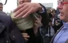Marine Le Pen zaatakowana na wiecu! Zasłonili ją ochroniarze [WIDEO]