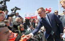 Wymowny gest Gruzinów. Podczas wizyty Andrzeja Dudy upamiętniono Józefa Piłsudskiego