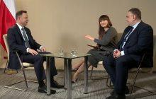 Prezydent Duda nie wytrzymał własnego żartu. Salwy śmiechu podczas wywiadu.