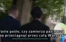 Ostra krytyka pod adresem młodego dziennikarza TVP, który dosłownie gonił posła PO po Warszawie.
