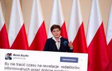 Dziennikarz, na podstawie przecieków z partii, spekuluje o nowej funkcji Beaty Szydło. Szefowa rządu ucięła dywagacje jednym wpisem