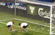 Niespotykana sytuacja podczas meczu Euro U-21 w Krakowie. Włoski bramkarz obrzucany... fałszywymi dolarami [WIDEO]