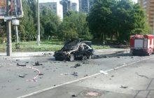 Eksplozja samochodu w Kijowie! Nie żyje oficer ukraińskiego wywiadu. Jest nagranie z monitoringu [WIDEO]