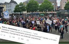 Ziemkiewicz kpi z marszu muzułmanów przeciwko terroryzmowi.